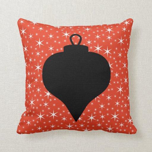 Red White Christmas Pillows, Red White Christmas Throw Pillows