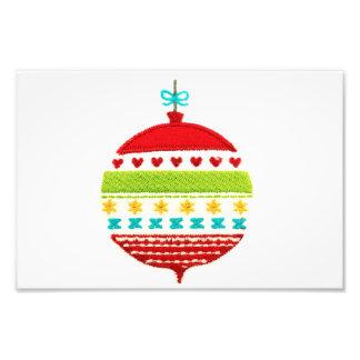Christmas Bauble Design Photo Print