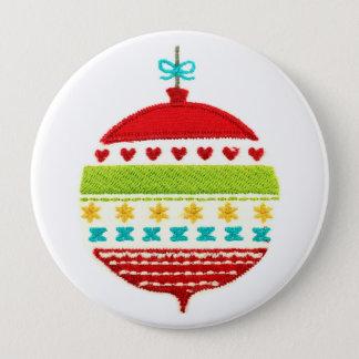 Christmas Bauble Design Pinback Button