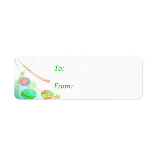 Christmas Bauble Gift Label - small