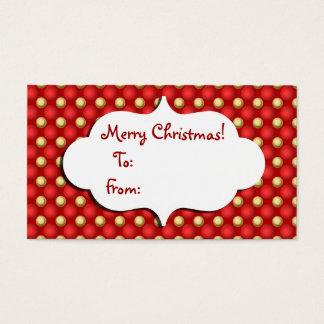 Christmas Bauble Gift tag