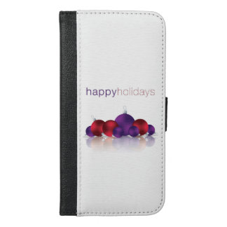 Christmas bauble iPhone 6/6s plus wallet case