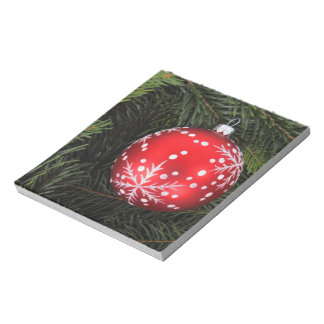 Christmas bauble scratch pad