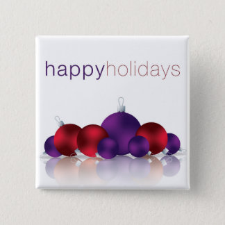 Christmas bauble pinback button