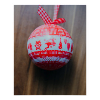 Christmas bauble poster