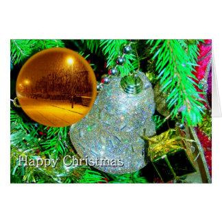 Christmas Bauble & Snow Scene Card