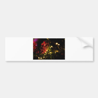 Christmas Bauble with Fairy Lights Bumper Sticker