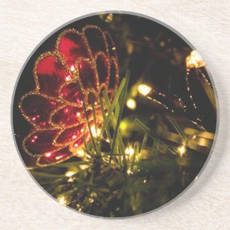 Christmas Bauble with Fairy Lights Drink Coaster