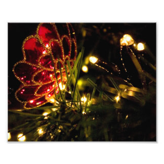 Christmas Bauble with Fairy Lights Photo Print
