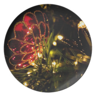Christmas Bauble with Fairy Lights Plates