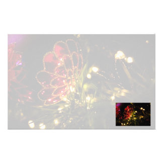 Christmas Bauble with Fairy Lights Stationery