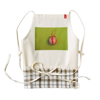 Christmas bauble zazzle HEART apron