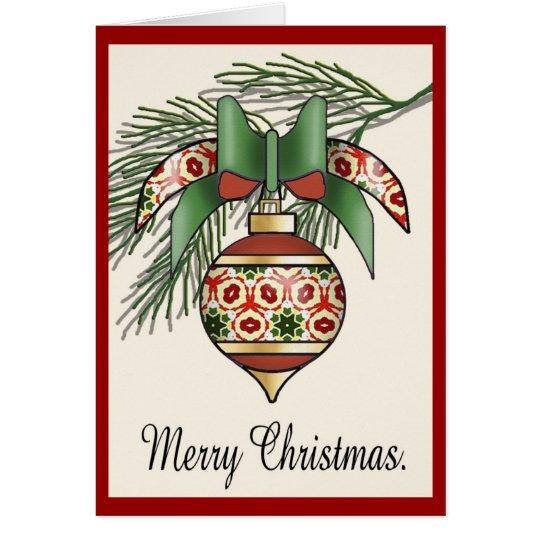 Christmas Baubles - 08 Card