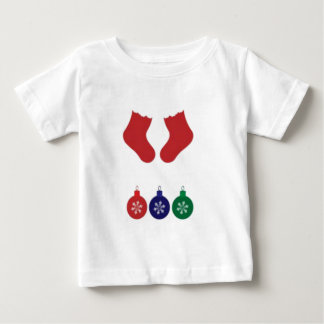 Christmas Baubles And Stockings Tshirt