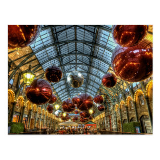 Christmas baubles at Covent Garden Markets, London Postcard