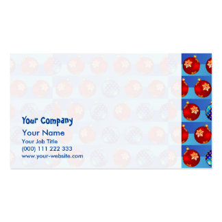 Christmas baubles Double-Sided standard business cards (Pack of 100)