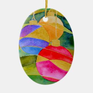 Christmas Baubles Ceramic Ornament