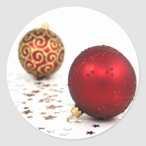 Christmas Baubles Classic Round Sticker