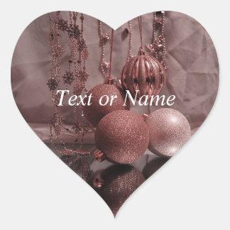 Christmas Baubles,elegant Heart Sticker
