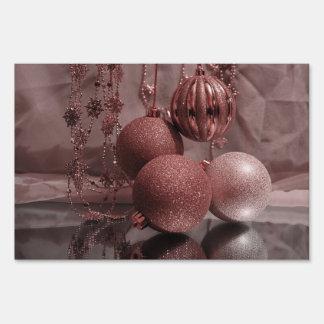Christmas Baubles,elegant Lawn Sign