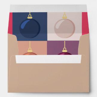 Christmas baubles envelope