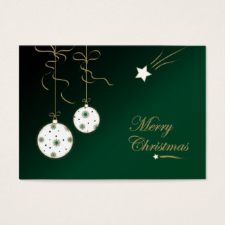 Christmas baubles - Gift tag card