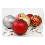Christmas Baubles Greeting Cards