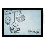 Christmas Baubles - Holiday Greetings Card