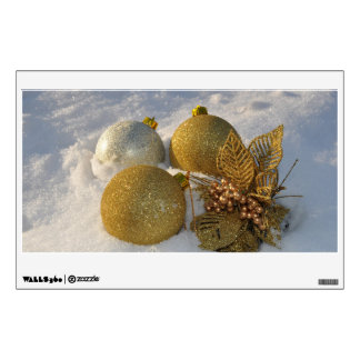 Christmas baubles in the snow room decals