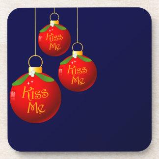 Christmas Baubles - Kiss Me Coasters