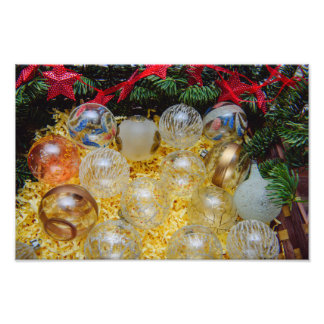 Christmas baubles photo print