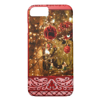 Christmas baubles pink iPhone 8/7 case