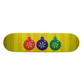 Christmas Baubles Skateboard