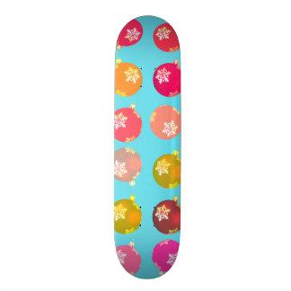 Christmas baubles skateboard deck