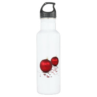 Christmas Baubles Stainless Steel Water Bottle