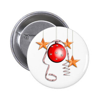 Christmas Baubles, Stars & Tinsel Button