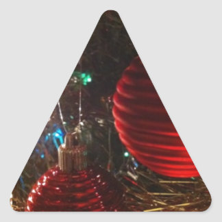 Christmas Baubles Triangle Sticker