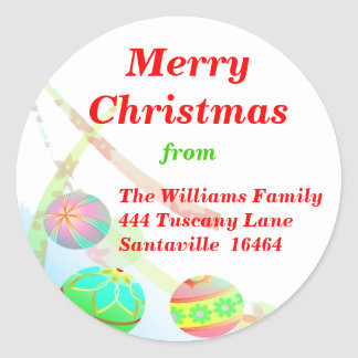Christmas Baubles Sticker - Large