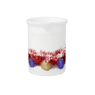 Christmas Baubles Tinsel and Snow Beverage Pitcher