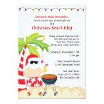Christmas Beach BBQ Card