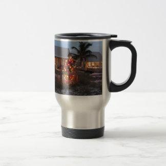 Christmas Beach Cottage Travel Mug