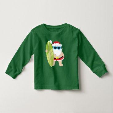 Beach Themed Christmas Beach Santa Holiday toddler t-shirt