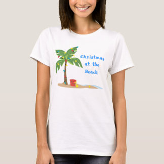 CHristmas Beach Scene T-Shirt