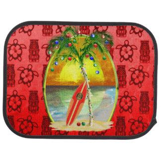 Christmas Beach Sunset Car Mat