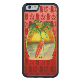 Christmas Beach Sunset Carved® Maple iPhone 6 Bumper Case