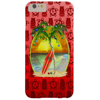Christmas Beach Sunset Barely There iPhone 6 Plus Case
