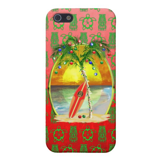Christmas Beach Sunset Case For iPhone SE/5/5s