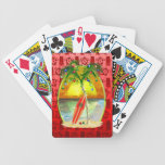 Christmas Beach Sunset Deck Of Cards
