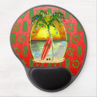 Christmas Beach Sunset Gel Mouse Pad