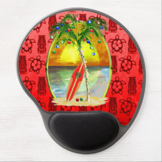 Christmas Beach Sunset Gel Mouse Pad